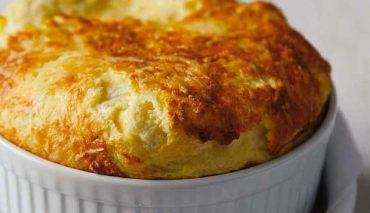 soufflè primosale e vellutata di patate