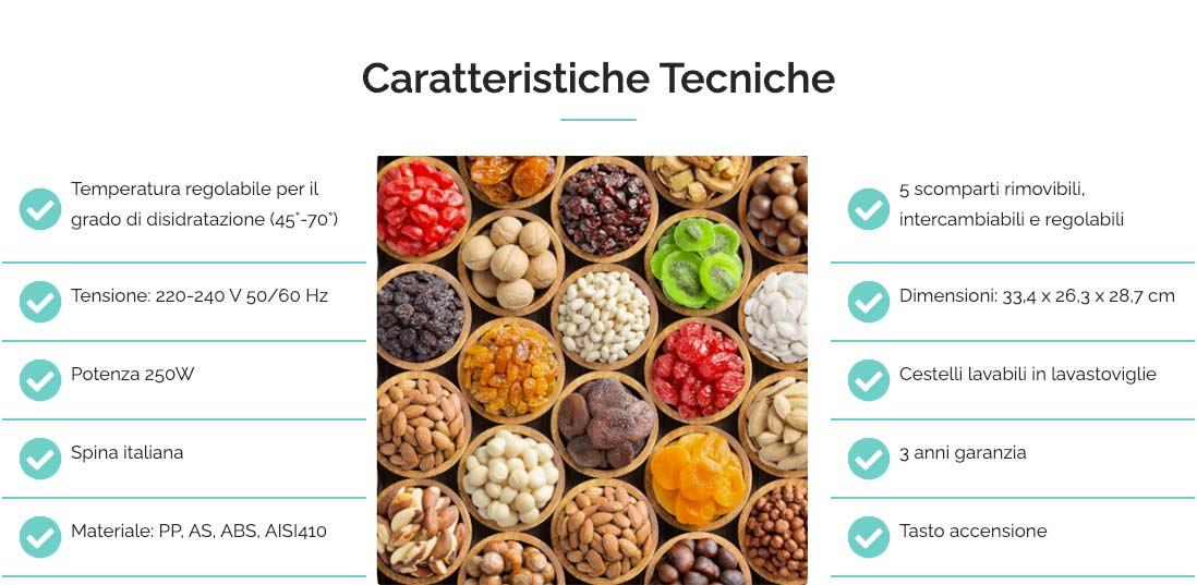 caratteristiche tecniche di Healty Snack Pro